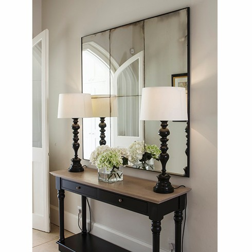 Panel Mirror<br/><br/>£780.00<br/><br/>This is our most recent project made for Decorex, our panel antiqued glass mirror. <br/><br/>The mirror can be made in a variety of different finishes with any size and number of tiles. <br/><br/>Price: £780.00 per sq. metre<br/><br/>We would be happy to discuss your project needs, please ring us on 01225 461969