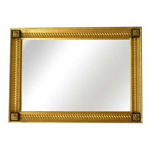 Barley Twist Mirror £810.00  This is a beautiful mirror, it can be made in hand gilded gold or silver finish or for an equally stunning look we can use a paint finish in the centre scoop of the mirror with the bright gilded inner twist on top.  Can be supplied with or without corner tablets example size.90cm x122cm, (36' x 48')though can be made to any size.