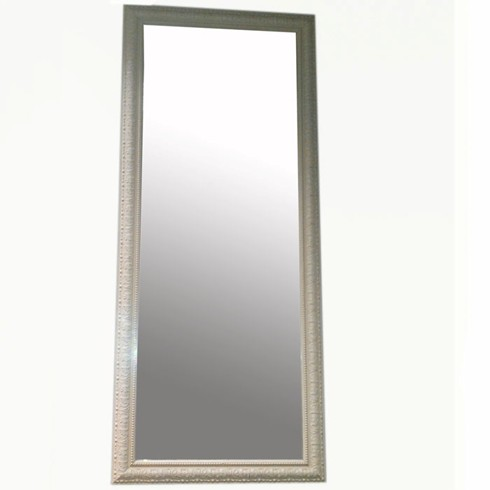 Irish Cream Mirror<br/><br/>£200.00<br/><br/>The Irish cream is a very pretty dressing mirror which can be made to any size to suit your situation. <br/><br/>Can also be hand gilded in gold or silver leaf (as shown) as well as a paint finish of your choosing. <br/><br/>Example size: 131cm x 56cm