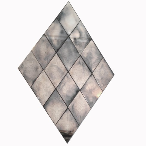 Diamond Mirror<br/><br/>£880.00 per square meter<br/><br/>Made using our antiqued mirror glass, this mirror can be made with any size and number of tiles in a variety of different antiqued mirror finishes. <br/><br/>We are happy to discuss your project needs, please ring us on 01225 491969. <br/><br/>