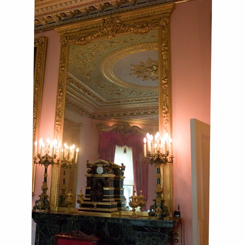 Isle of Wight Mirror<br/><br/>We were recently commissioned by English Heritage to make bespoke antiqued mirror glass for this stunning overmantel mirror. <br/><br/>Similar mirrors can be made to customers specifications POA.