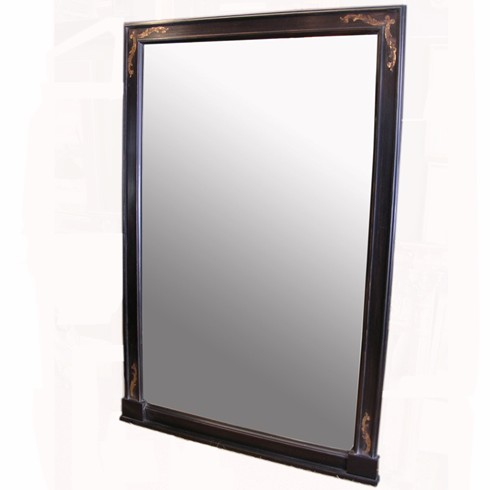 The Black and Gold Canal Mirror, Designed to sit on a mantel or a piece of furniture<BR>£750.00  48' x 36'[122cms x 92cms] Any size and colour can be made<BR><BR>This mirror was done by special commission, being bespoke mirror makers we can make mirrors to your exact specifications.