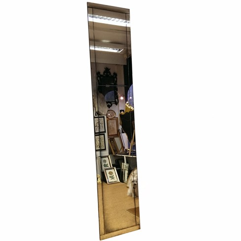 Framed Panel Mirror<br/><br/>£780 per square metre<br/><br/>Handmade antiqued mirror strips with a bright mirror in the centre.<br/><br/>The antiqued mirror glass can be made in a variety of different finishes, see the antiqued mirror glass section on our website under products. <br/><br/>Example size: 48 x 244cm<br/><br/>Can be made to any size.