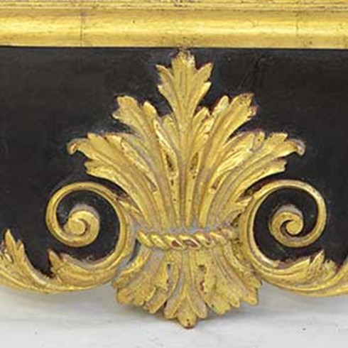 Parcel Gilt<br /><br />This is an example of a light antique gold finish on our William Kent mirror.