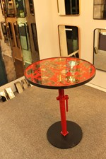 Occasional Table with mirrored top [any colour]             £950.00  size as shown 75cms diameter