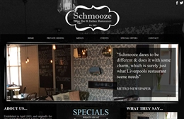 Schmooze - Bar website design by Toolkit Websites, Southampton