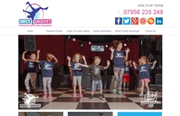 Dance Grooves - Dance company web design by Toolkit Websites, Southampton
