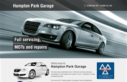 Hampton Park Garage - Automotive website design by Toolkit Websites, Southampton