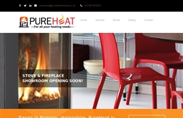 Pureheat - Website design by Toolkit Websites, Southampton