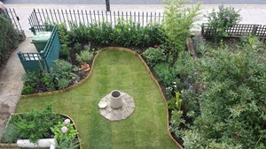 Completed landscaping project North London