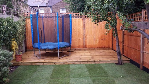 Decking a h garden services north london decking for Garden decking north london