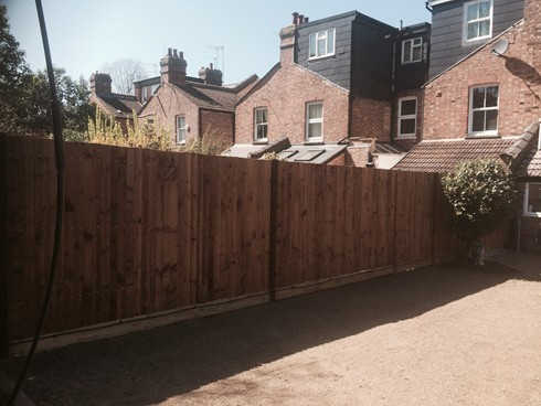 Feather Edge Garden Fence North London
