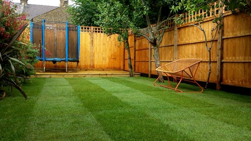 Lawn Turfing in Queens Park, North West London