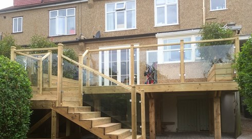 Decking a h garden services north london decking for Garden decking quotes uk