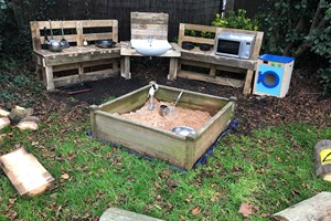 Kind Hearts at St Georges- Mud kitchen and sand pit