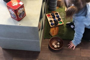 Sensory/ loose parts play area