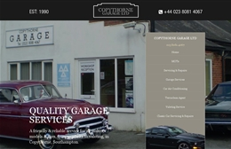 Copythorne Garage - Automotive website design by Toolkit Websites, Southampton