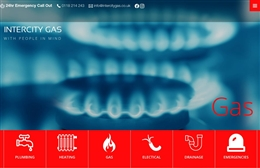 Intercity Gas - Glazing and Fire Safety Services Web Design by Toolkit Websites