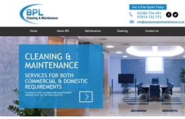 BPL Cleaning - Cleaning website design by Toolkit Websites, professional web designers