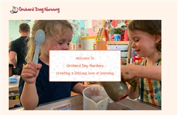 Orchard Day Nursery - Nursery website design by Toolkit Websites