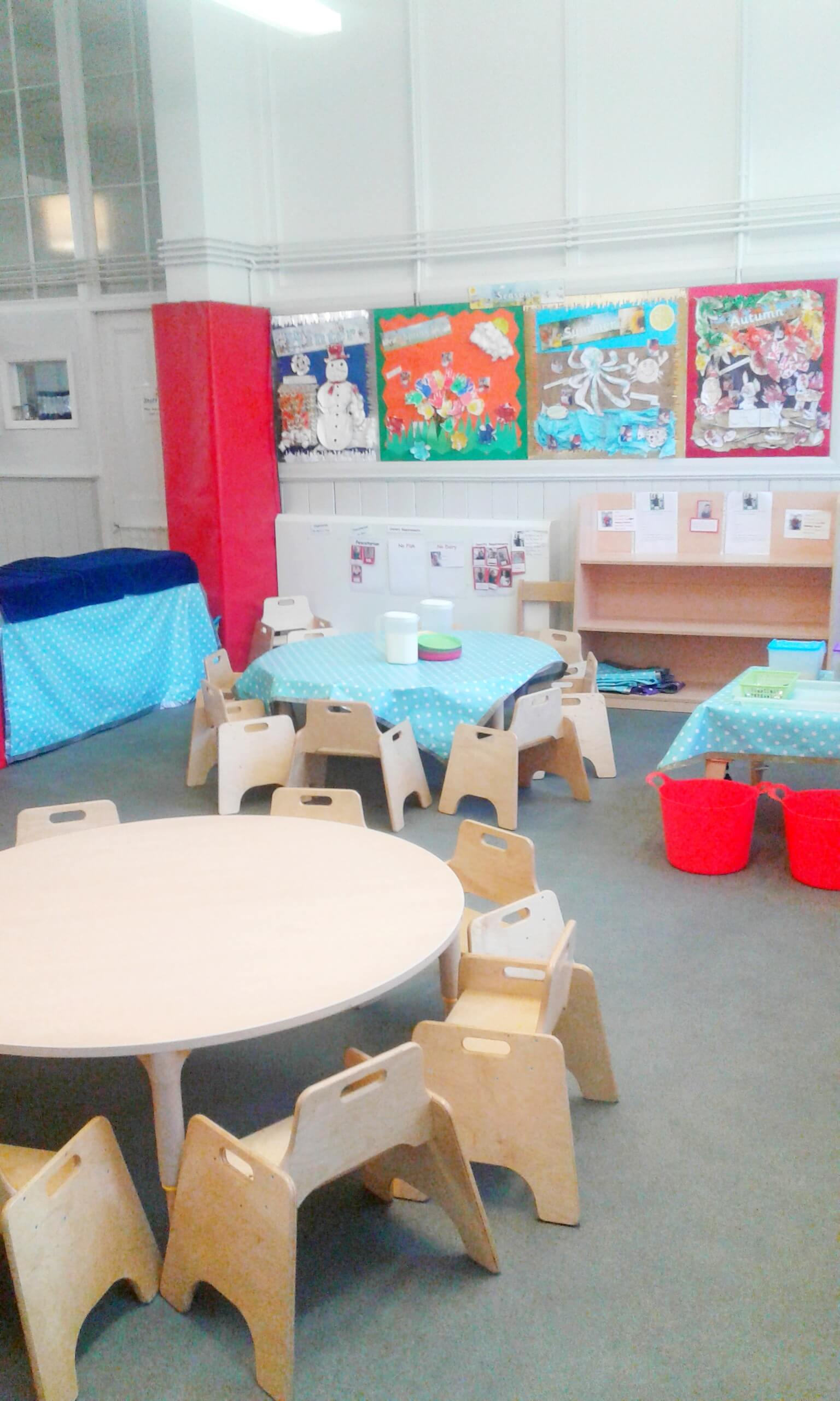 Toddler room, children's chairs