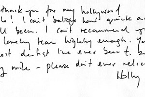 Holly Testimonial