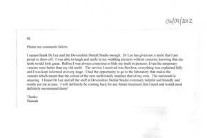 Hannah Testimonial