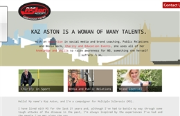 Website design case study for Kaz Aston London