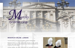 Website design case study for London Monarchy Online