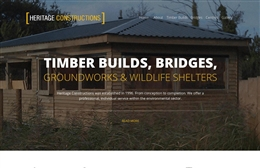 Heritage Constructions - Building website design by Toolkit Websites, Southampton