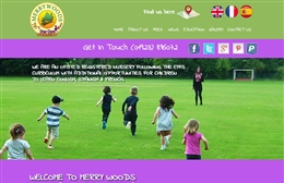 Merry Woods day nursery website design