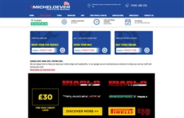 Micheldever Tyres - Automotive website design by Toolkit Websites, Southampton
