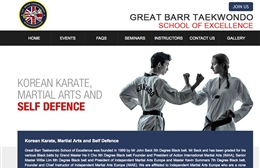 Great Barr Taekwondo - Martial arts website design by Toolkit Websites, Southampton