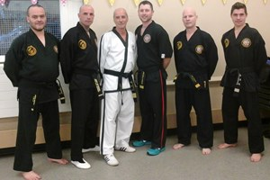 Master Beck with some of the Great barr Taekwondo Instructors.