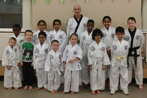 Some of the Great Barr Taekwondo Little TIGERS.