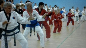 Master Beck training with Grand Master Joon Poo Choi