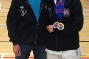 Master beck with Rehana Kosar British Champion 2015