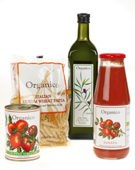 the organico range includes great organic food from breadsticks to rices and risotto and from extra virgin olive oil to pasta