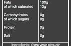 extra virgin olive oil nutritional information