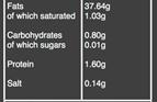organic Moorish olives nutritional information
