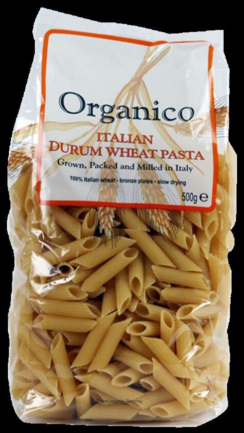 organic Durum wheat penne