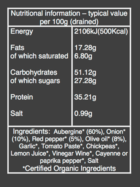 organic Aubergine spread