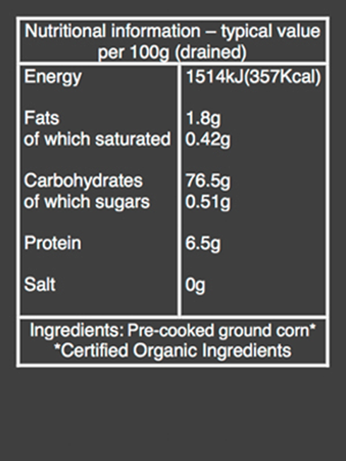 Organic polenta nutritional information
