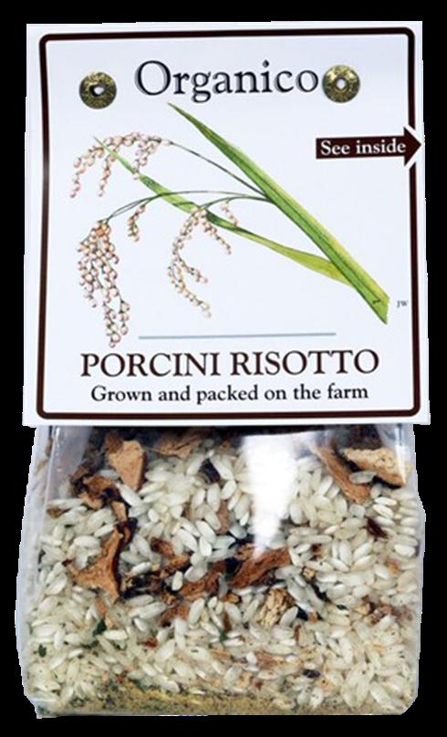organic porcini risotto