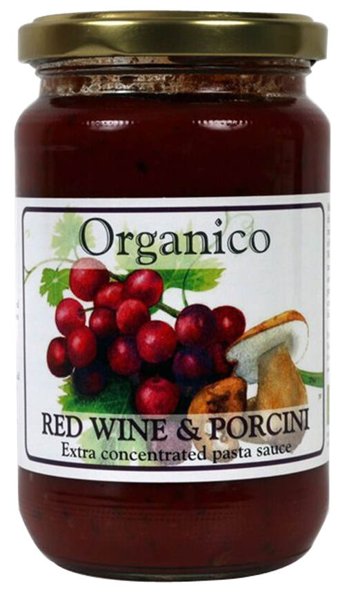 Organic Red wine and Porcini pasta sauce