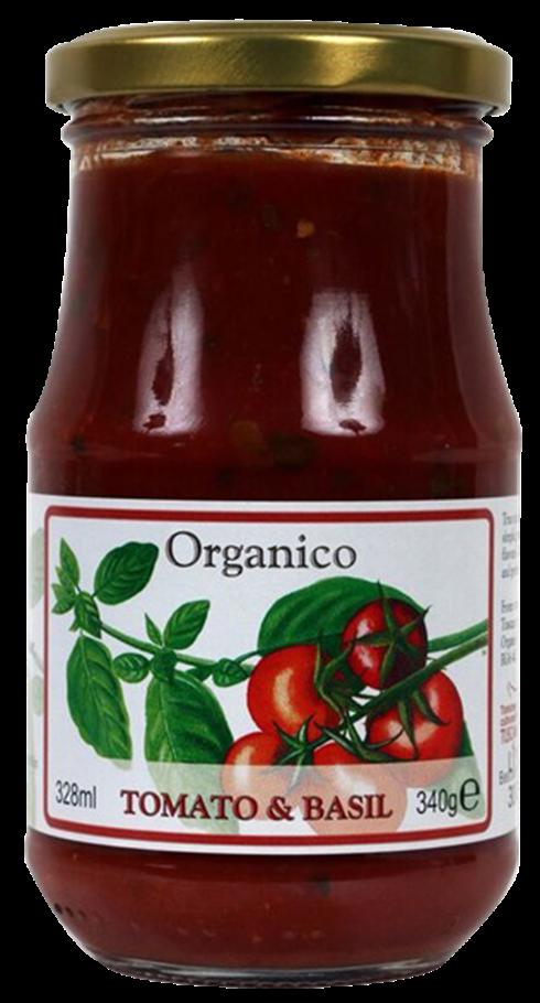 Organic Tomato and Basil sauce