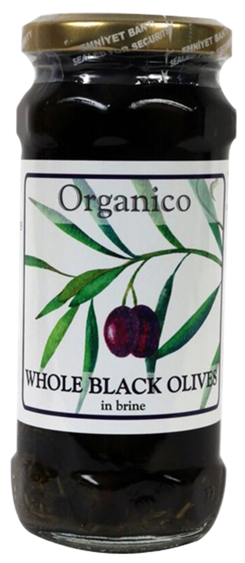 organic Whole black olives