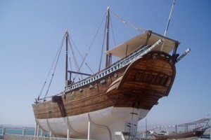Restored dhow in Sur