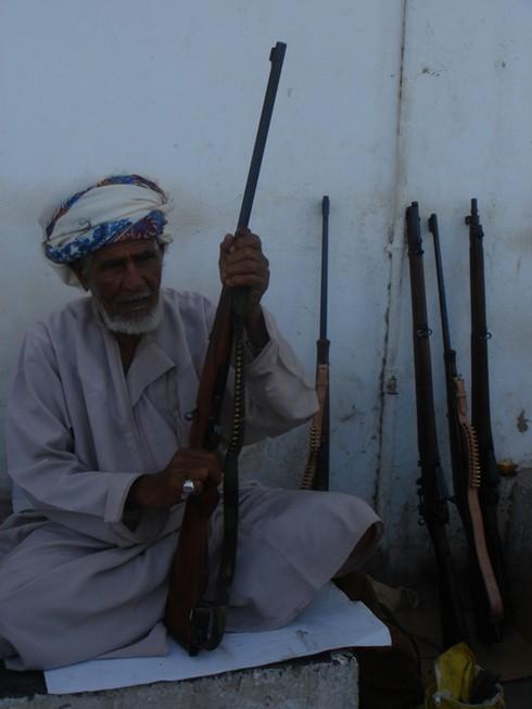 Gun souk in Salalah town