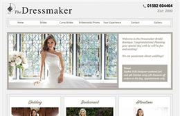 The Dressmaker - Wedding website design by Toolkit Websites, Southampton